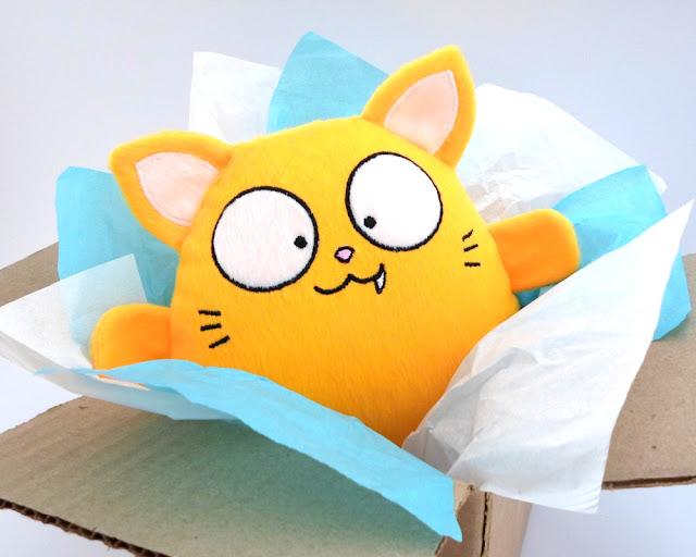 Gato Amarillo Niño Peluche Tierno Juguete felpa halloween kawaii suave regalo niña dia navidad decoracion bebe valentin cumpleaños guyuminos