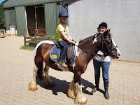 Grand daughter on horseback; courtesy of Lis Vaessen