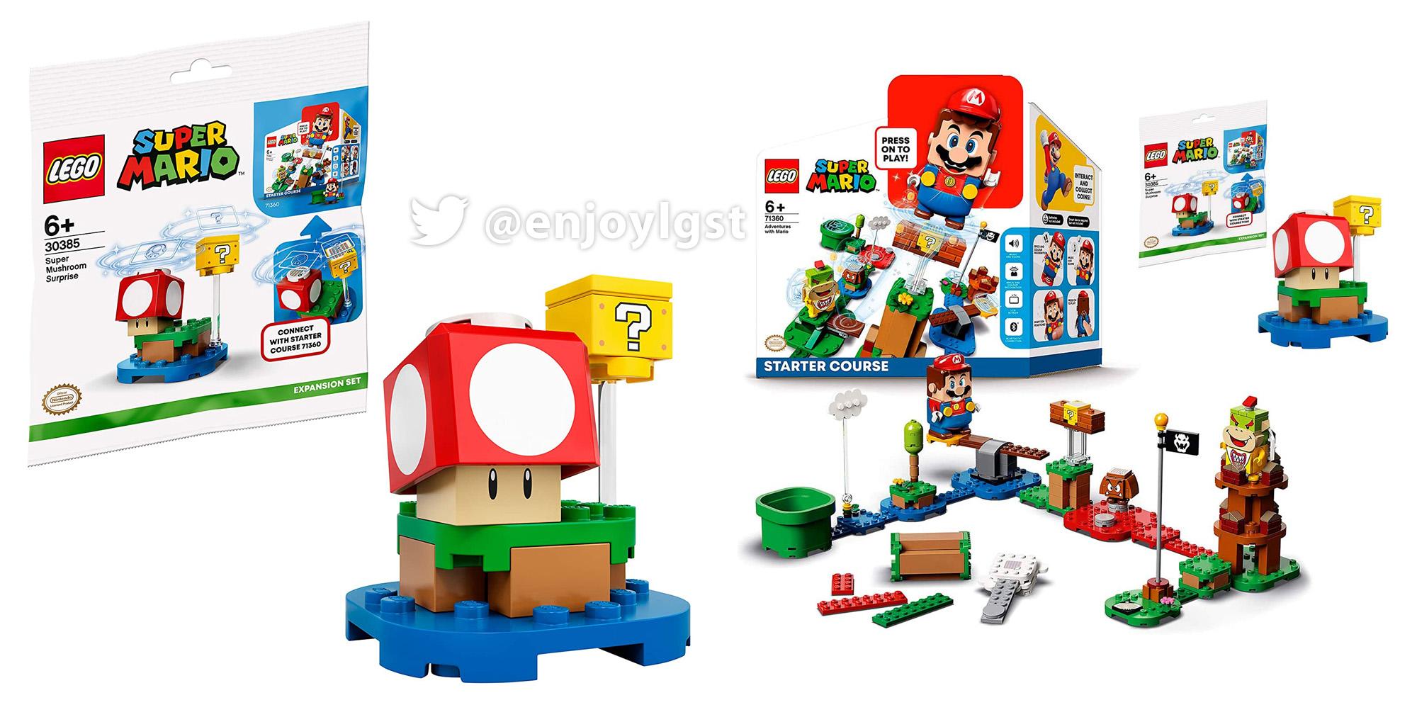 スーパーキノコ付きレゴ(LEGO)スーパーマリオスターターセット発売!Amazonで特典30385を入手せよ!