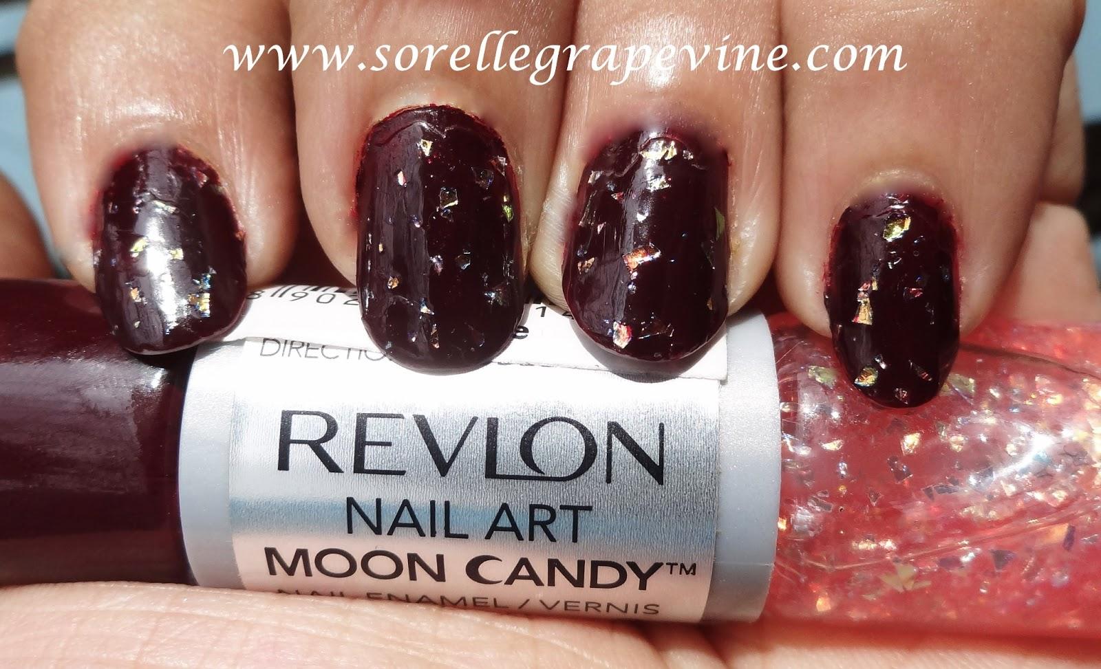 Sorelle GrapevineRevlon Nail Art Moon Candy Satellite 230 - Swatch ...