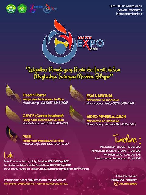 BEM FKIP Universitas Riau EXPO INFO Yuk Ikutan Lombanya
