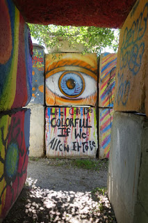 The Junkyard Outsider Art Park Mason City Iowa collage art community art