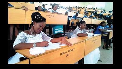 2 Nigerian Ladies Wrote Their Final Exams In Their Wedding Gown