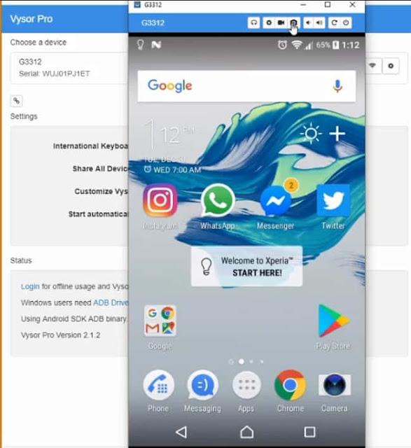 إظهار وعرض شاشة الهاتف على الحاسوب مع تطبيق سريع ومميزات جد رائعة