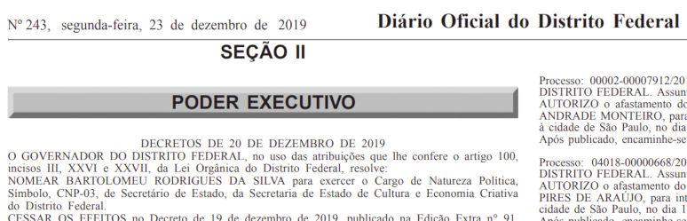Secretaria de Estado de Cultura e Economia Criativa (Secec) do Distrito Federal.