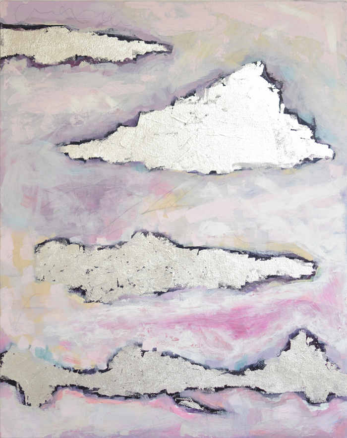 The Flying Clubhouse: Fleeting Snow #mixedmedia #painting #cloudscape