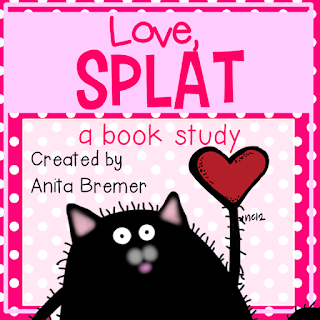 Love, Splat book study companion activities- perfect for Valentine's Day in Kindergarten or First Grade!