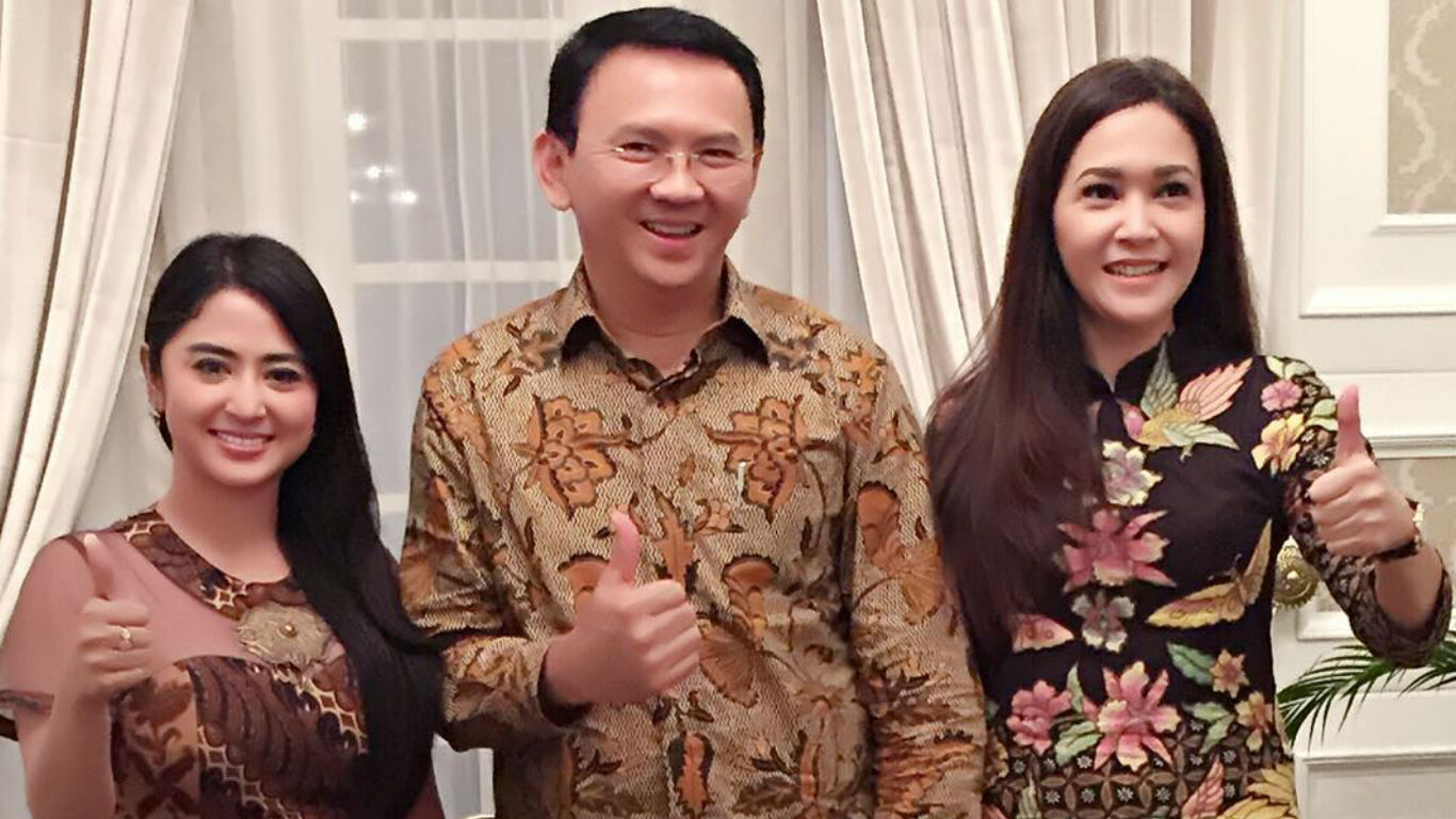 Dewi Perssik, Ahok dan Maia Estianty