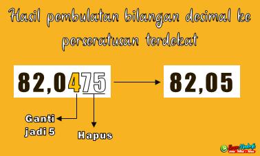 Hasil pembulatan bilangan desimal