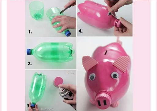 Craft Ideas YouTube Source DIY Piggy Bank Out Of Waste Plastic Bottle