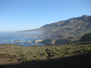 Light fog above a rocky cove along the Pacific Coast Highway