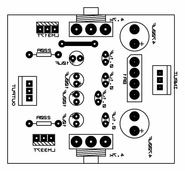 dual power supply pcb top