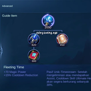 penjelasan lengkap item mobile legends item fleeting time