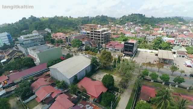 Foto Udara Kawasan Wisata Kuliner Juanda Samarinda