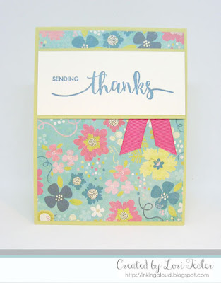 Sending Thanks card-designed by Lori Tecler/Inking Aloud-stamps from Avery Elle