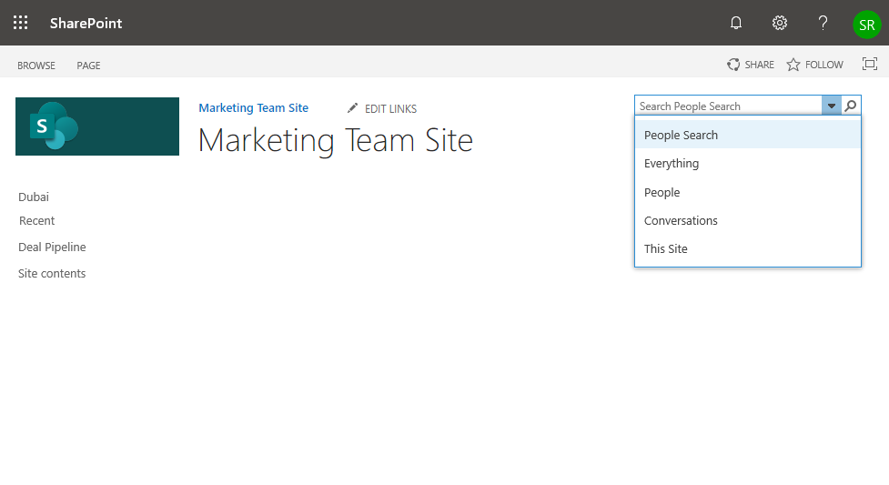 customize sharepoint online search navigation