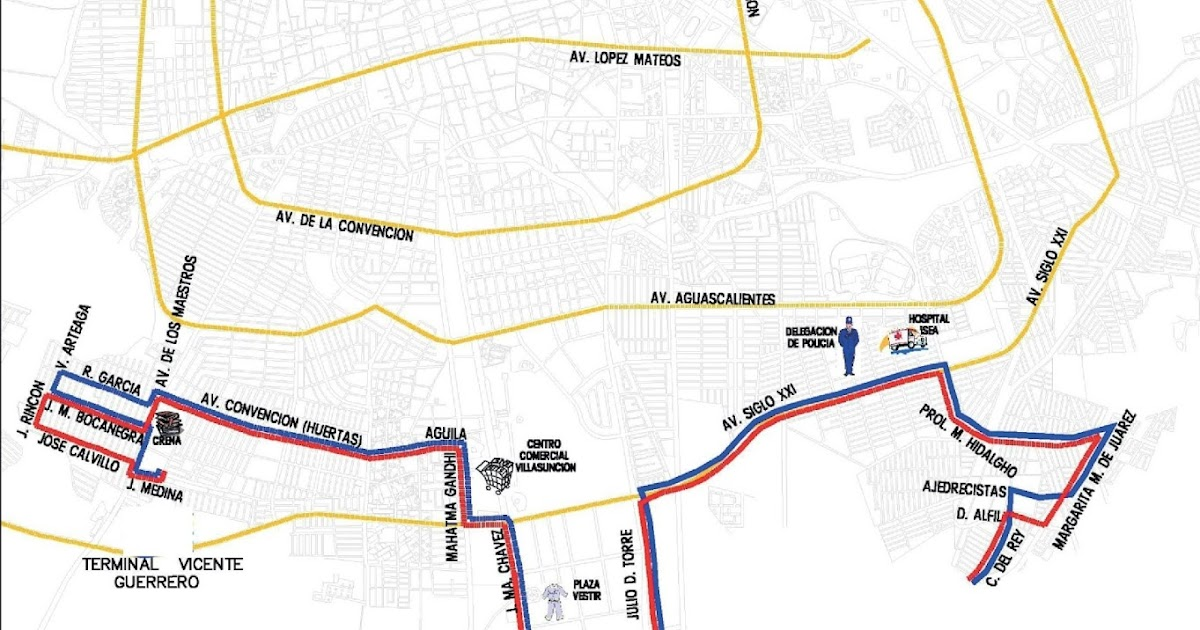 Rutas De Camiones Aguascalientes El Buen Vecino Ruta 14