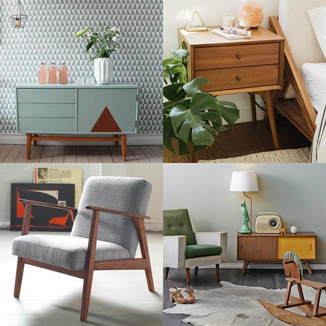 Muebles estilo vintage combinados con estilo nórdico