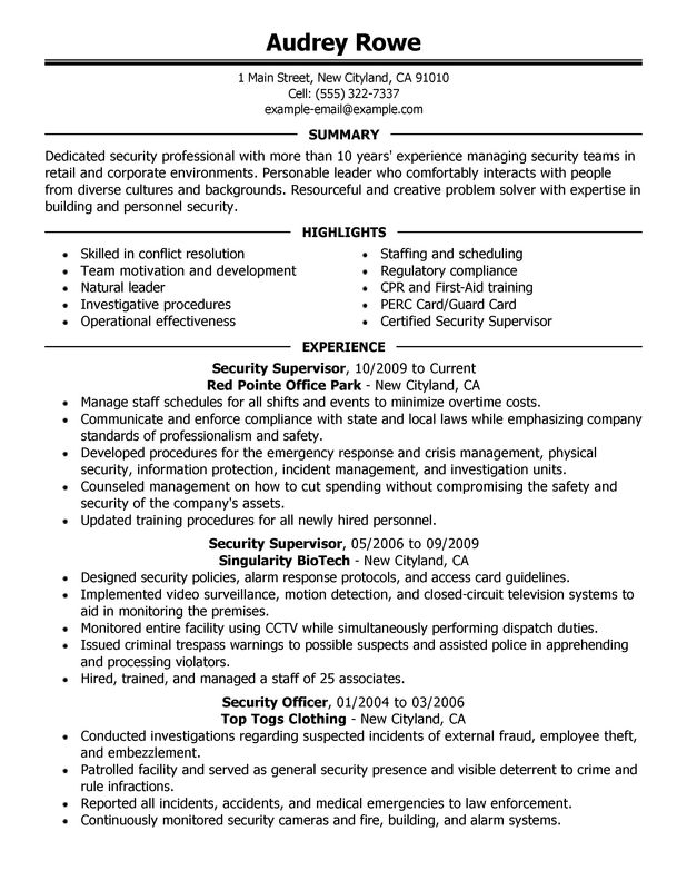 Management resumes samples