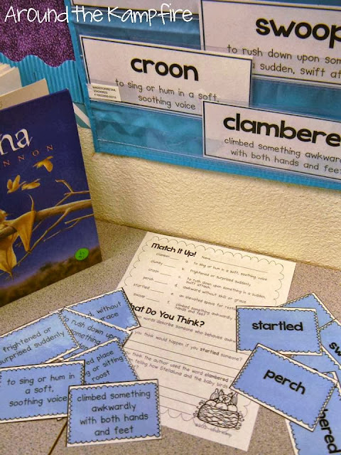 Stellaluna vocabulary and comprehension assessment
