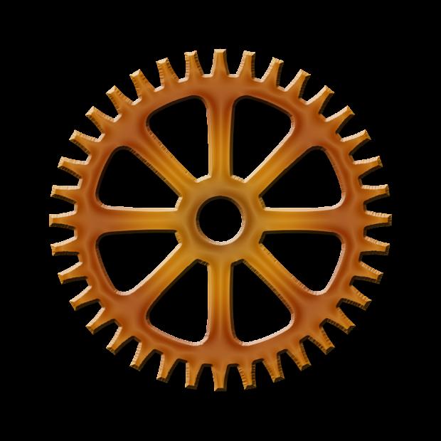 Transparent Steampunk Gear