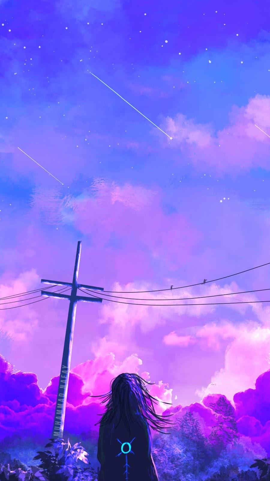 Aesthetic twilight sky