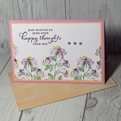 Floral greeting card using Stampin' Up! Hand-Penned Memories & More Card Pack