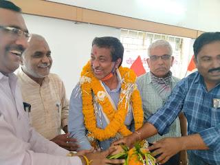 भारतीय मजदूर संघ के संगठन मंत्री एवं बिजली पारेषण कर्मचारी संघ के प्रदेश महामंत्री का एक दिवसीय दौरा