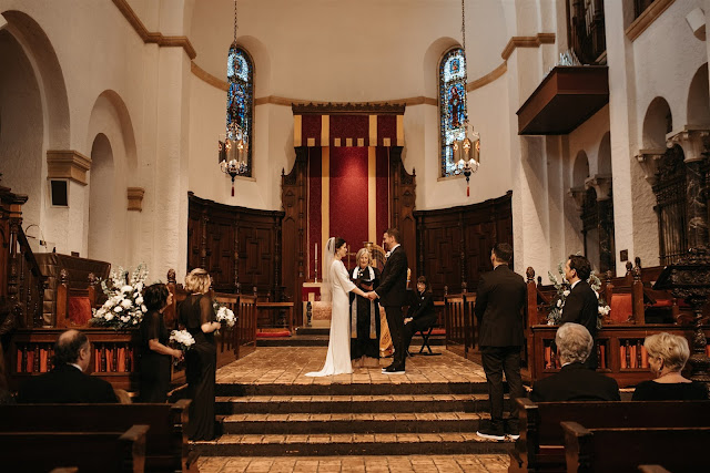 wedding ceremony at knowles chapel
