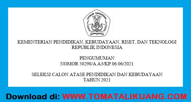 penerimaan calon atase pendidikan dan kebudayaan atdikbud tahun 2021 kemendikbudristek ri tomatalikuang.com