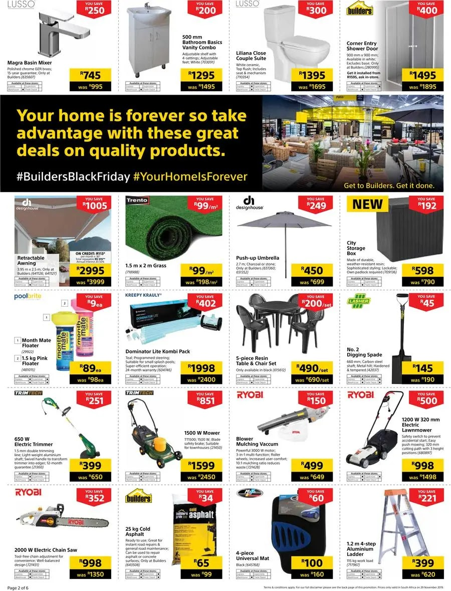 Builders Warehouse Black Friday Deals Page 2