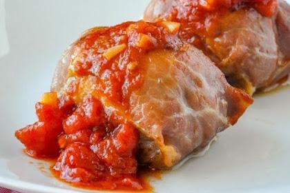 Stuffed Chicken Thighs With Mozzarella Prosciutto & Quick Tomato Sauce