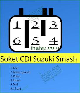 Soket CDI Suzuki Smash