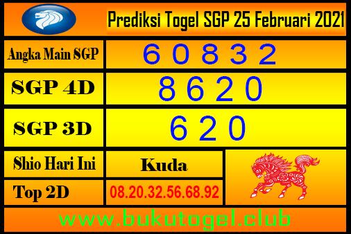 Perkiraan Sgp untuk 25 Februari 2021
