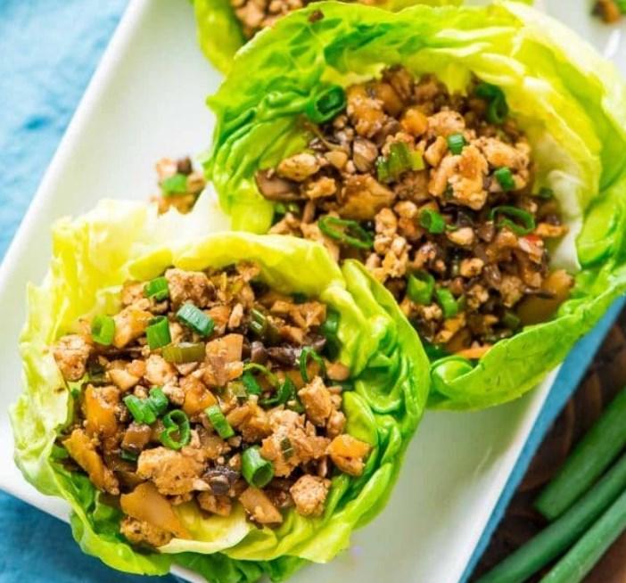 Vegetarian Lettuce Wraps | Copycat PF Changs  #meatless #healthy