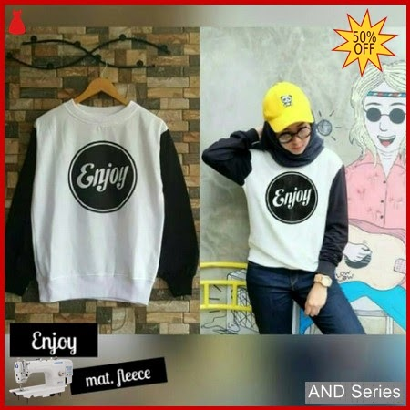 AND067 Sweater Wanita Lucu Enjoy Murah BMGShop