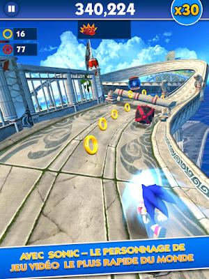 لعبة Sonic Dash مهكرة للاندرويد برابط مباشر