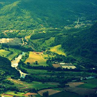 Vale do Rio Caí Visto do Alto do Ninho das Águias, em Nova Petrópolis