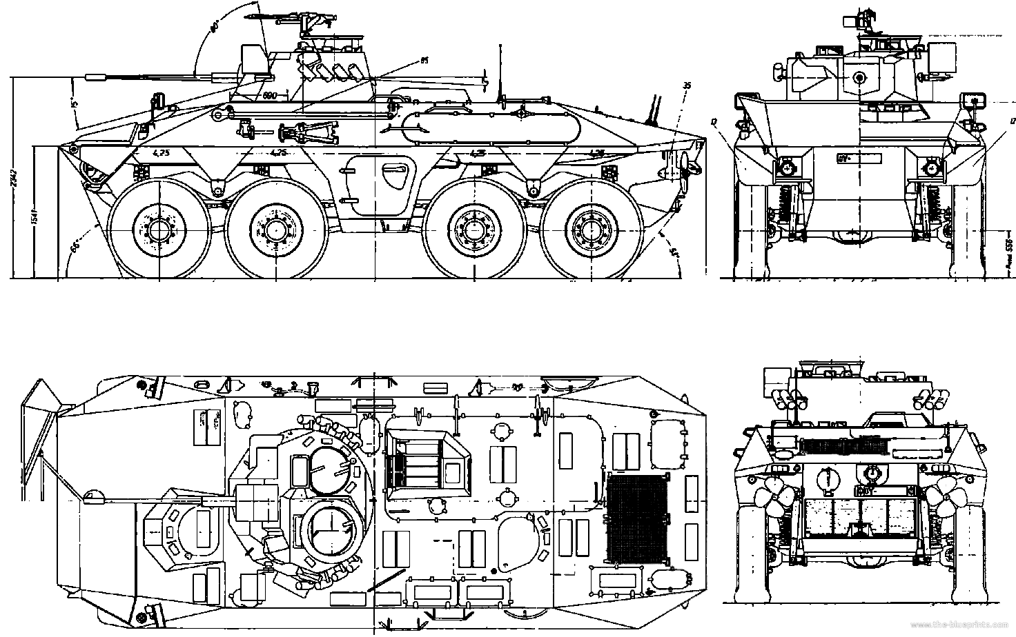 Military Wheeled Fighting Vehicles March