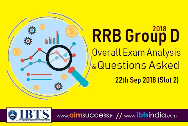 RRB Group D Exam Analysis 22th Sep 2018 & Questions Asked (Slot 2)