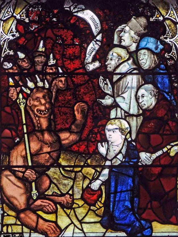 Os poderosos civis e eclesiásticos se ajoelharão ante a bestiaa, catedral de York