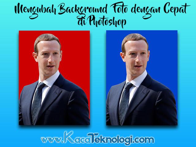 Bagaimana cara mengganti warna background / latar belakang foto dengan Photoshop kurang dari 5 menit ? Seperti mengubah warna background foto dari merah menjadi biru atau biru menjadi merah. seringkali kita mendapatkan tugas yang biasanya mengharuskan kita untuk mengubah warna latar belakang / background contohnya seperti foto di atas. Terkadang kita hanya memiliki foto yang berwarna merah saja sedangkan kita sedang membutuhkan foto yang berlatar belakang biru. Maka dari itu anda mau tidak mau harus mengubahnya apalagi jika dalam keadaan terburu-buru. Dengan Photoshop anda tidak perlu untuk melakukan foto ulang yang tentunya memakan waktu dan uang yang cukup banyak. Dengan artikel ini anda akan mengetahui bagaimana cara mengganti warna background / latar belakang foto dengan Photoshop kurang dari 5 menit yang tentunya dapat dilakukan oleh siapa saja.