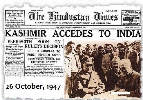 Photo: Kashmir Accedes to India