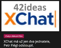 XChat má už jen dva jednatele, Petr Flégl odstoupil. - AzaNoviny