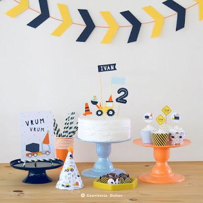 kit festa tratores caminhoes aniversario