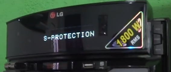Falla S- Protection en equipos de audio LG.