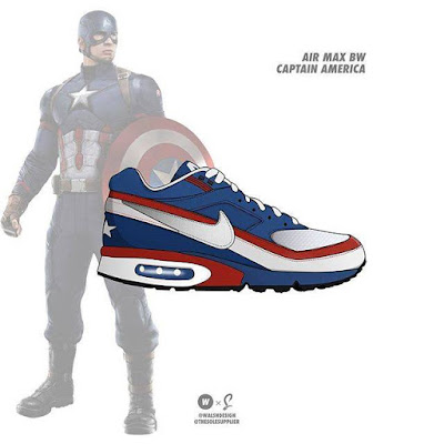 Captain America x Nike Air Max BW