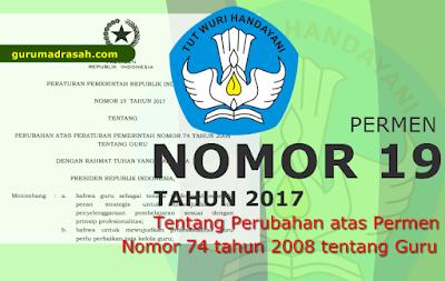 pp nomor 19 tahun 2017 tentang guru