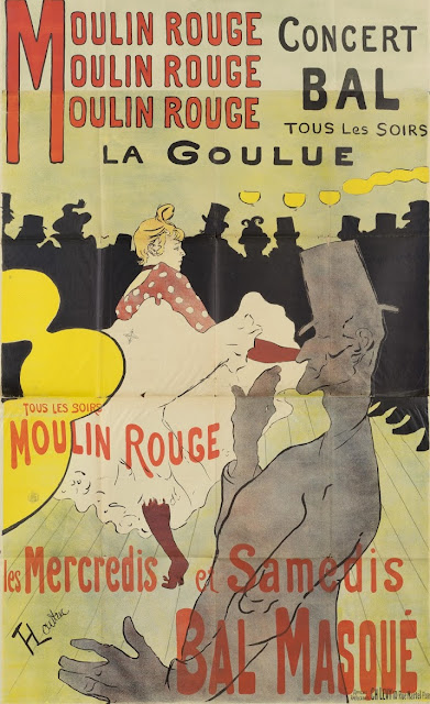 poster for the Dance Hall Le Moulin Rouge  Henri de Toulouse-Lautrec, 1891