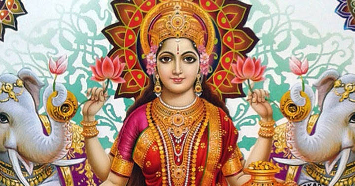 Goddess Lakshmi Images with good morning Greetings in